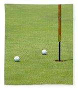 Golf Pin Fleece Blanket