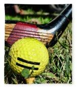 Golf - Tee Time With A 3 Iron Fleece Blanket