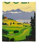 Golfing In Lausanne Fleece Blanket