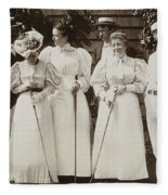 Golfing Party, C1895 Fleece Blanket
