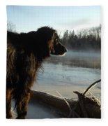 Good Morning Mississippi River Fleece Blanket