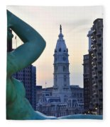 Good Morning Philadelphia Fleece Blanket