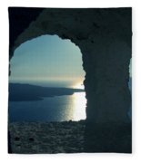 Good View Santorini Island Fleece Blanket
