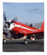 Goodyear F2g-1 Corsair N5588n Race 57 Falcon Field Arizona December 27 2011 Fleece Blanket