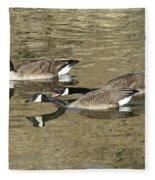 Goose Giving A Warning Fleece Blanket