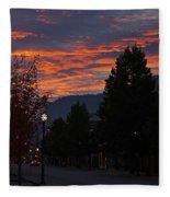 Gorgeous Sunrise On G Street Fleece Blanket