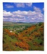 Gortin Valley, Co Tyrone, Ireland Fleece Blanket