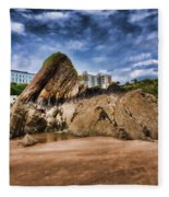 Goscar Rock Tenby 4 Painted Fleece Blanket