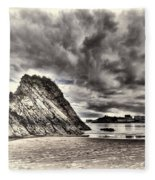 Goscar Rock Tenby Cream Fleece Blanket