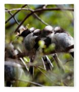 Gossip Birds Fleece Blanket