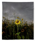 Goth Sunflower Fleece Blanket