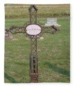 Gothic Grave Marker Fleece Blanket