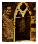 Gothic Window Fleece Blanket