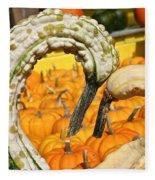 Gourd Heart Fleece Blanket
