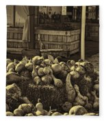 Gourds In Sepia Splendor Fleece Blanket