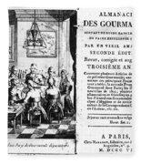 Gourmands Almanac, 1806 Fleece Blanket