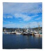 Government Wharf In Sooke Harbour Fleece Blanket