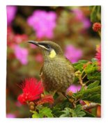 Graceful Honeyeater Fleece Blanket