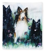 Gracie Abbey And Bella Fleece Blanket