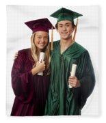 Graduation Couple Iv Fleece Blanket