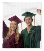 Graduation Couple V Fleece Blanket