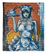 Grafitti Wall Fleece Blanket