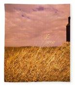 Grain Elevator And Crop Fleece Blanket
