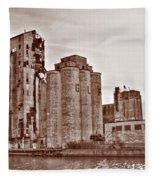 Grain Elevators St Fleece Blanket