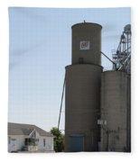 Grain Processing Facility In Shirley Illinois 3 Fleece Blanket