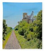 Grain Processing Facility In Shirley Illinois 4 Fleece Blanket