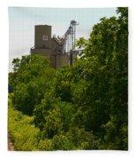 Grain Processing Facility In Shirley Illinois 5 Fleece Blanket