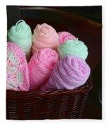 Grammy's Yarn Basket Fleece Blanket