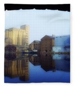 Grand Canal, Dublin, Co Dublin, Ireland Fleece Blanket
