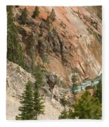 Grand Canyon And Yellowstone River Fleece Blanket