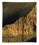 Grand Canyon Bathed In Light Fleece Blanket