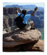 Grand Canyon Feeling All Right Fleece Blanket