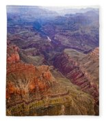 Grand Canyon Morning Scenic View Fleece Blanket