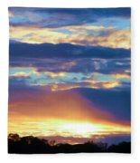 Grand Canyon Sky Over Treetops Fleece Blanket