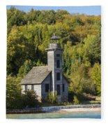 Grand Island E Channel Lighthouse 2 Fleece Blanket