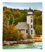 Grand Island Lighthouse No.1442 Fleece Blanket