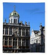 Grand Place Buildings Fleece Blanket