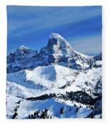 Grand Teton Winter Fleece Blanket