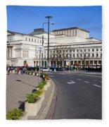 Grand Theatre In Warsaw Fleece Blanket