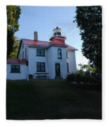 Grand Traverse Lighthouse Fleece Blanket