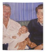 Grandpa And Grandma Fleece Blanket