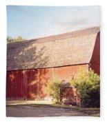 Grandpas Barn Fleece Blanket