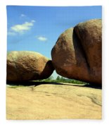 Granite Boulders 2  Fleece Blanket