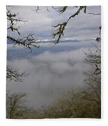 Grants Pass In The Fog Fleece Blanket