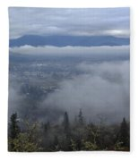 Grants Pass Weather Fleece Blanket