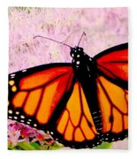 Graphic Monarch Fleece Blanket